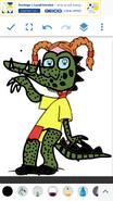 Eliza as Nile Crocodile