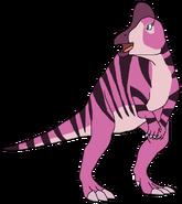 Sally Spacebot corythosaurus form dinosaur in thespacebotsadventuresseries