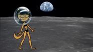 Kitty Katswell on the moon in a bikini