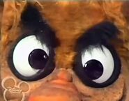 A close-up of Mean Mama's eyes in the beginning of the song Ugly- The Muppet Show