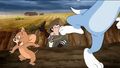 Miss Almira Gulch's defeat (in Tom and Jerry and the Wizard of Oz)