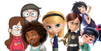 Penny Peterson, Chloe Park, Mabel Pines, Vanellope von Schweetz, Tip, Margo and Peni Parker