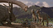 Aladar and the herd at the nesting grounds