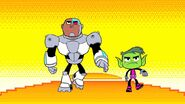 Beast Boy and Cyborg