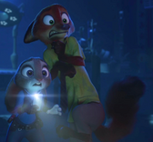 Judy and nick got scared at a savage tiger