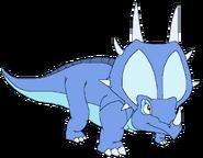 Patty Spacebot styracosaurus form thelandbeforetime in thespacebotsadventuresseries