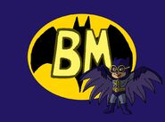 Spoof character of Batman, which Simon did dress up as in The Chipmunks Go To The Movies Batmunk.