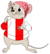 Bernard Wears a Red and White Night Hat and a Red and White Shirt
