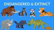 Extinct vs Endangered