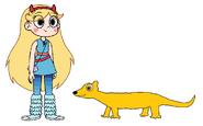 Star meets Yellow Mongoose