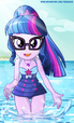 Twilight Sparkle in the water