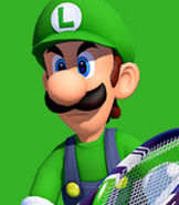 Luigi in Mario Tennis- Ultra Smash