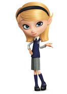 Penny with school clothes