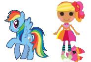 Rainbow Dash and April Sunsplash