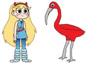 Star meets Scarlet Ibis