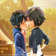 Hiro and Gogo kiss
