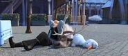 Kristoff, Sven and Olaf sleeping in Frozen Fever
