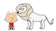Stanley Griff meets White African Lion