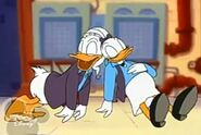 Donald and Daisy sleeping from a pie made from the witch's sleeping apples