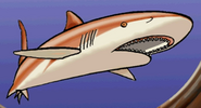 Orange shark in hugo lek och lar 7 hugo och djuren i havet