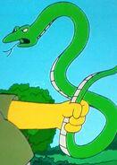 Simpsons Green Snake
