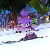 Blaze the Cat in Mario and Sonic at the Sochi 2014 Olympic Winter Games
