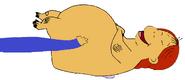 Ed Crosswire Tickling Muffy Crosswire as the Hippopotamus