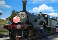 Emily blowing bubble gum