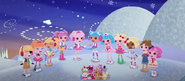 Lalaloopsy Characters Caroling in the Snow