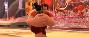 Vanellope and Ralph share a hug goodbye