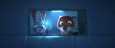 Judy and nick sees clawmarks in the limo