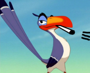 Zazu has a whistle, that blows quietly.