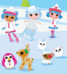 Mittens, Ivory and Rosy Ice Skating