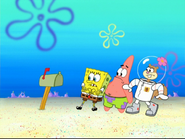 Spongebob and friends got scared at mail