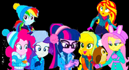 The Mane 7 in their snow clothes
