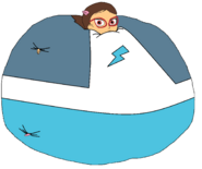 Amaya dressed up as Connor Inflated