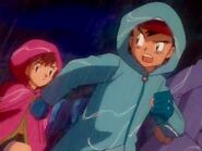 Ash and company off to rescue Charmander from the rain