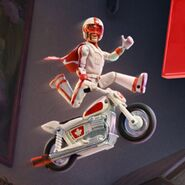 Duke Caboom On his Motorcycle