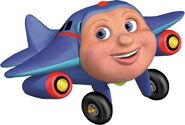 Jay Jay the jet plane as Henry the green tender engine