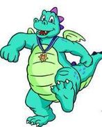 Ord the Blue Dragon from Dragon Tales