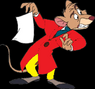 Basil of Baker Street (The Great Mouse Detective) as Winnie the Pooh