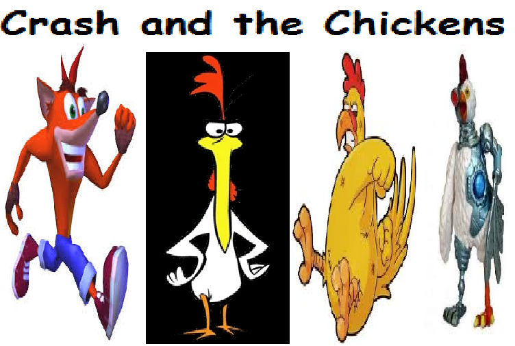 Crash and the Chickens (Oggy and the Cockroaches)