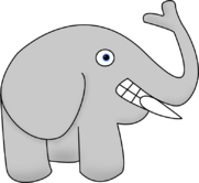 Elephant with No Neck