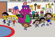 Barney Goes to School (My Version)