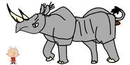 Stanley Griff meets Black Rhinoceros