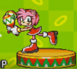 Amy in Sonic Advance Sound Test