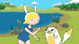 Fionna and Cake in the summertime