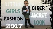Little Girls Biker Jacket Look 2017 Fashion Clothes Outfit For Kids-Toddlers.