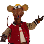 Rizzo the Rat (The Muppets) as Glasses Crow