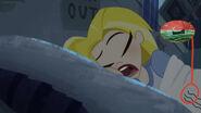 Sam is Sleeping on Bed are Inside Kara's Stomach and Sleep